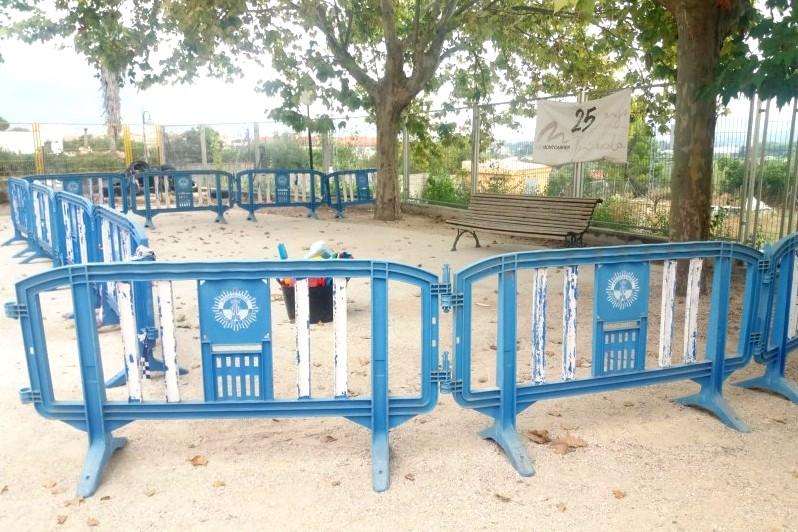 muro parc infantil