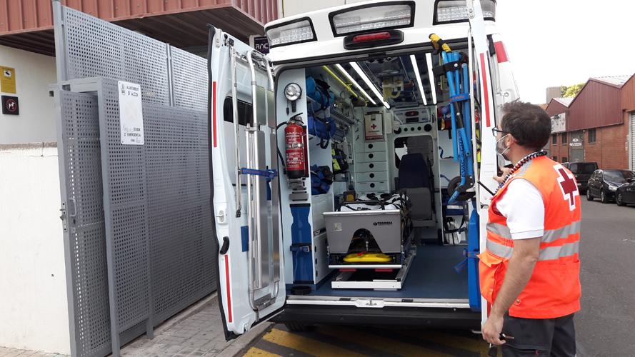 El polideportivo Francisco Laporta cuenta con servicio de ambulancia también la noche del viernes