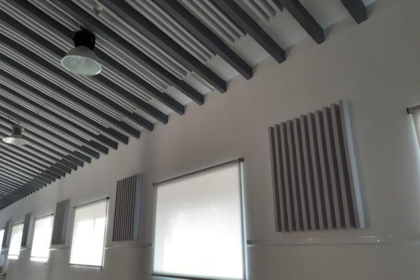 L'Àgora millora la seua sonoritat amb panells acústics