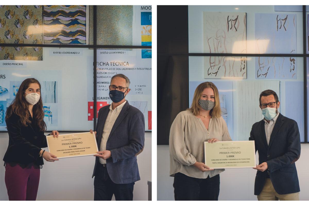 Marta Cuartero y Mª Mercedes Olcina, ganadoras del concurso de Diseño para Textil Hogar