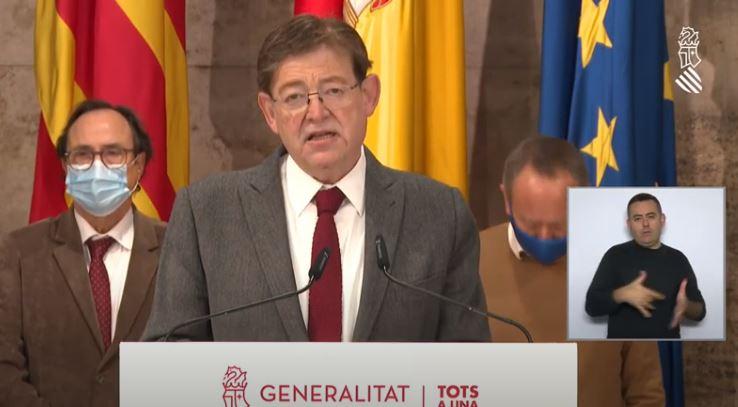 Puig anuncia un pla d'ajudes per als sectors afectats per la Covid