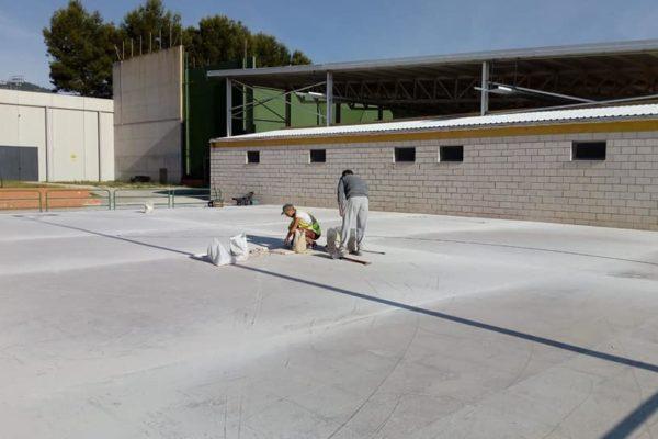 Recta final en las obras del nuevo polideportivo