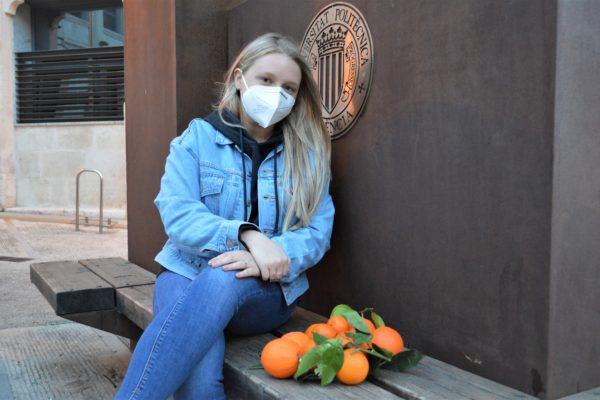 L'estudiant del Campus de la UPV dóna una segona vida als residus d'aquesta fruita
