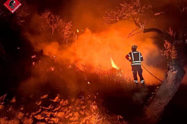 Els bombers van realitzar 22 actuacions diàries en 2020