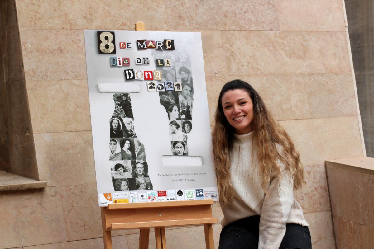 Denise Llorens, guanyadora del concurs de cartells del 8M