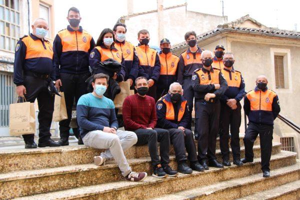 Homenatge a voluntaris de Protecció Civil