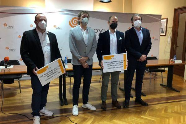 Aitex dóna 20.000 euros per a nou equipament tèxtil
