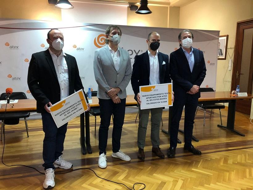 Aitex dona 20.000 euros para nuevo equipamiento textil