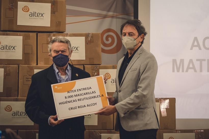 AITEX dona 50.000  mascarillas reutilizables