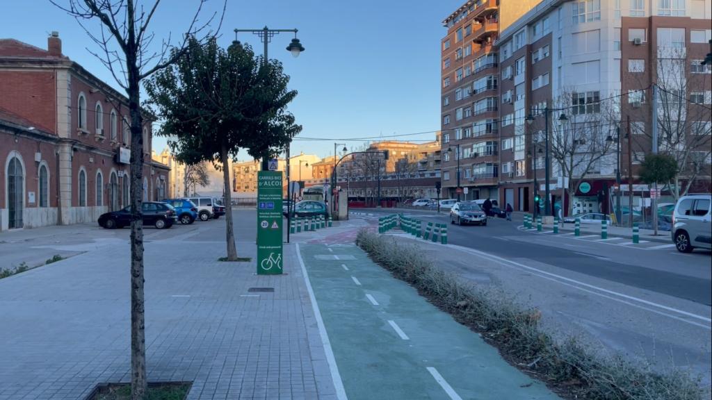 Obras para adecuar los accesos a la estación de tren