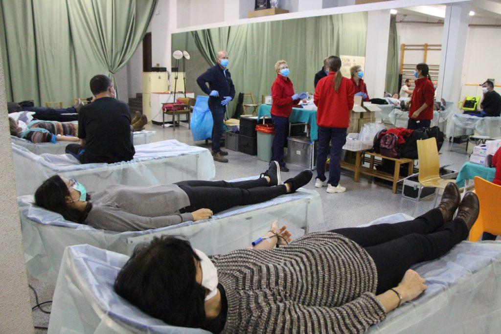 Es registren al voltant de 400 donacions de sang