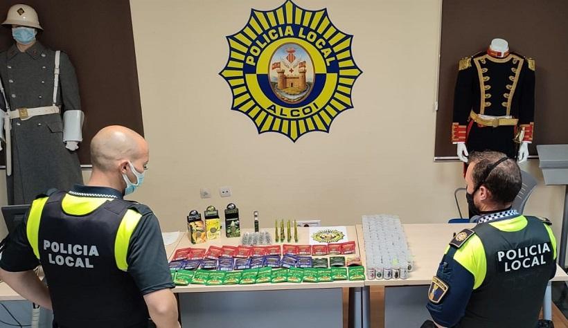 La Policia Local investiga a un comerç per vendre productes amb cànnabis