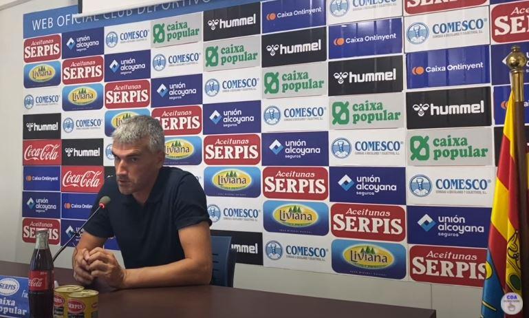 Conferència de premsa de Vicente Parras. Alcoyano-Betis Esportiu
