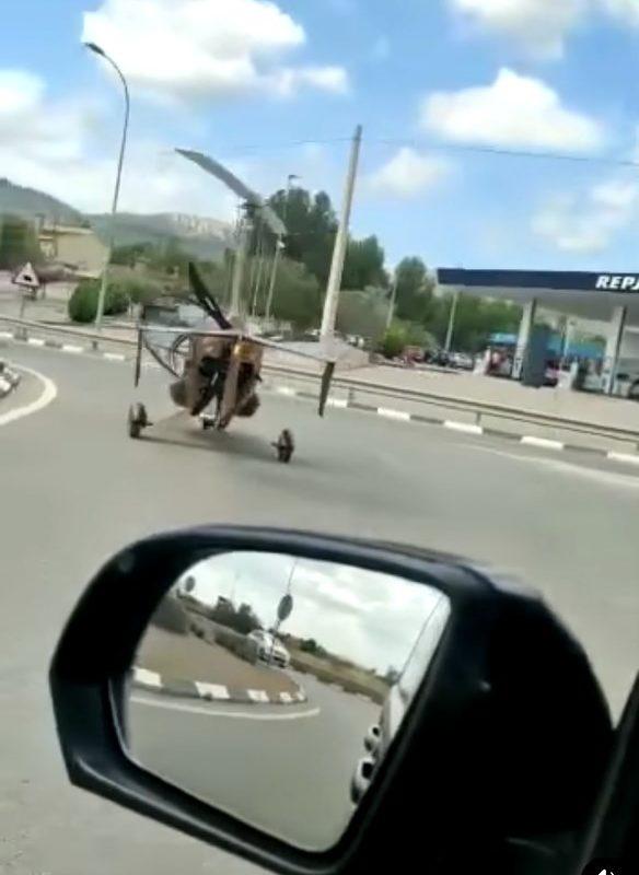 Sorprenen un autogir circulant