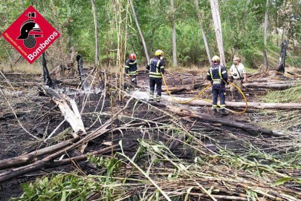 Un incendi a Cocentaina calcina 700 m² de superfície