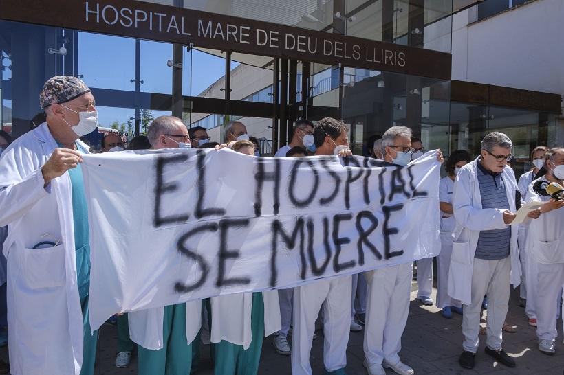 Demà, nova concentració dels metges a les portes de l'Hospital
