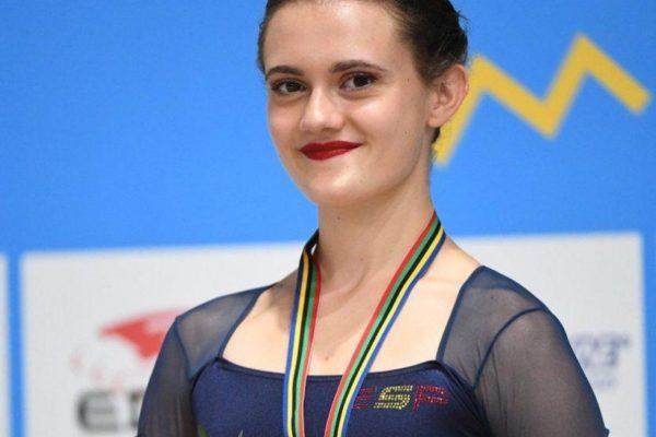 La patinadora Andrea Silva, al Mundial de Paraguai